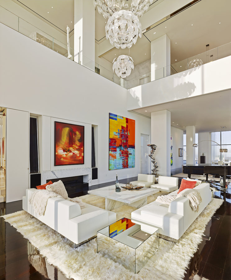 Ultra Modern Living Room: Ultra Luxury Design: A Billionaire's Penthouse In New York