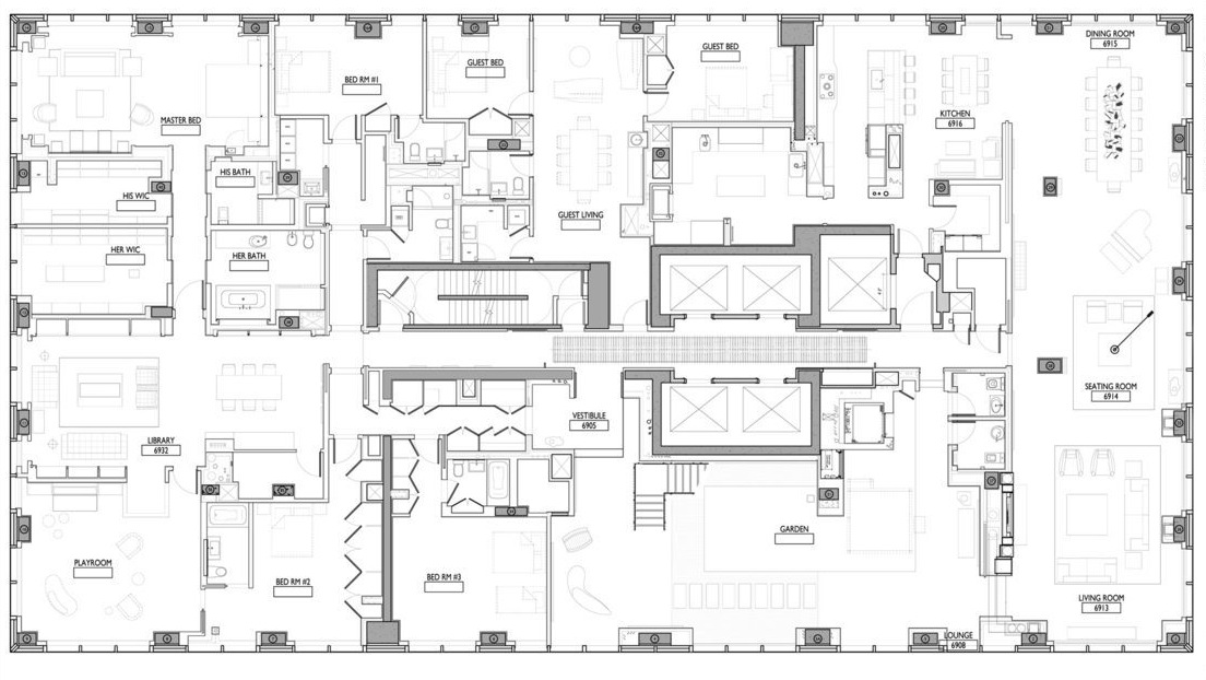 Executive Homes Floor Plans: Ultra Luxury Design: A Billionaire's Penthouse In New York