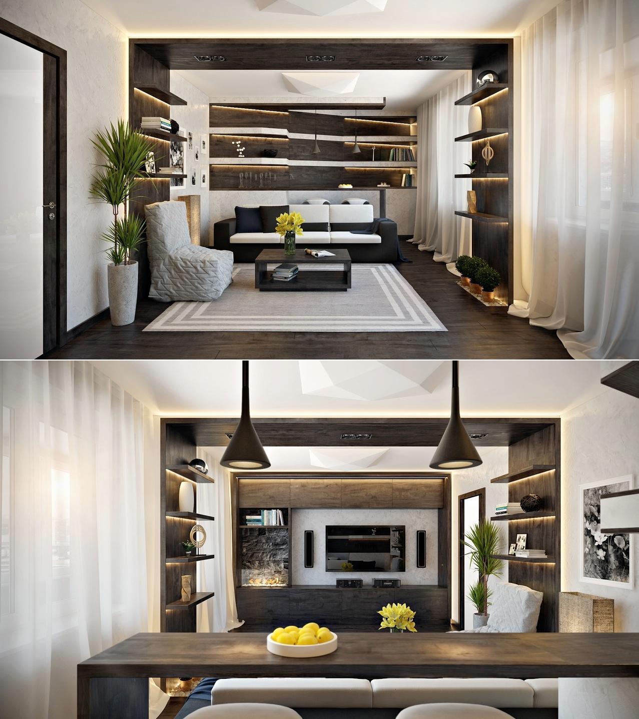 Living Room Accent Lighting Interior