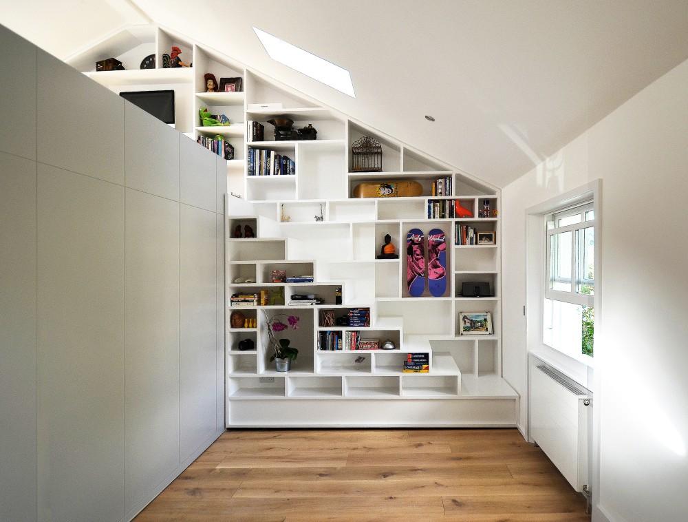 beautiful loft design a solution to space shortage. Black Bedroom Furniture Sets. Home Design Ideas