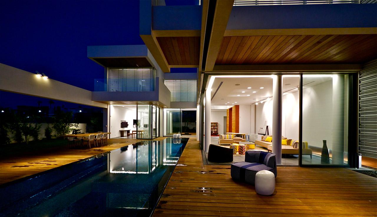 Moder Villa Night Lighting Interior Design Ideas