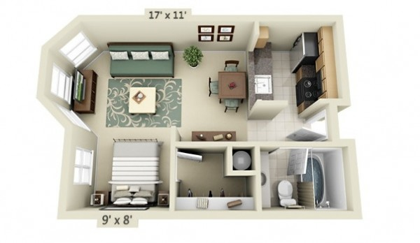 50 Studio Type Single Room House Lay Out One Room House