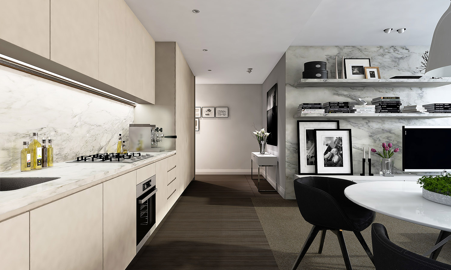 Studio Apartment Kitchen Design: Studio Apartment Interiors Inspiration