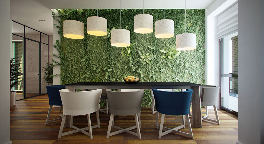 Green Wall Interior Design Ideas