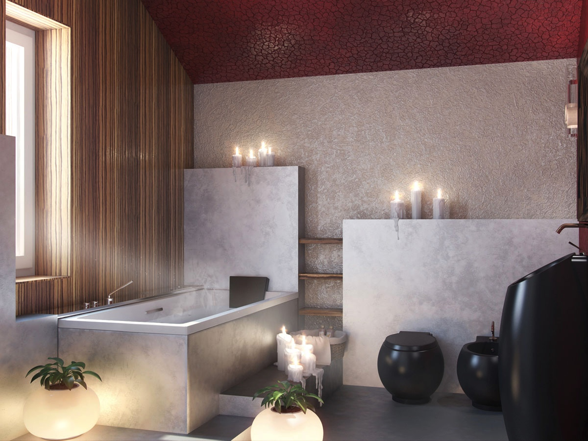 Image result for modern bathroom with candles