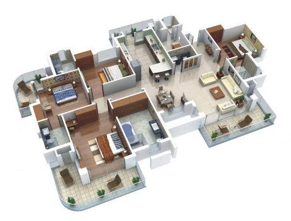 4 Bhk Home Designs