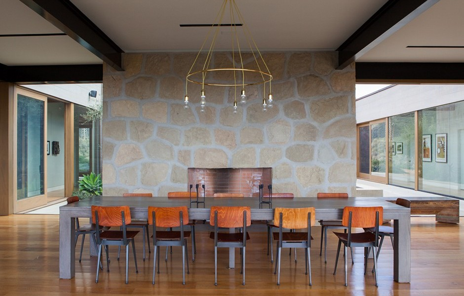 Dining view a modern architectural masterpiece in california