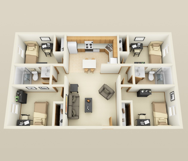 Remarkable 4 Bedroom Apartment House Plans Download Free Architecture Designs Meptaeticmadebymaigaardcom