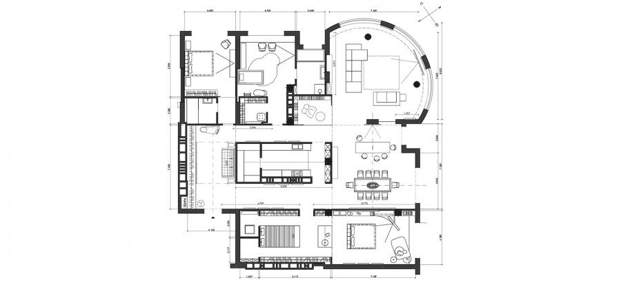 modern-apartment-floorplan   Interior Design Ideas.
