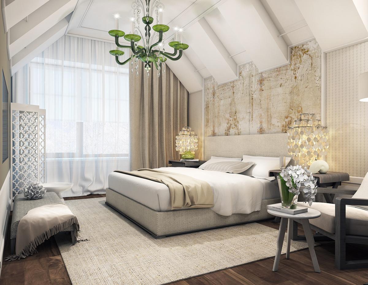 modern attic bedroom | Interior Design Ideas.