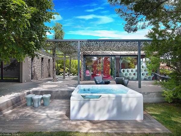 hiện đại-nóng-bồn tắm
