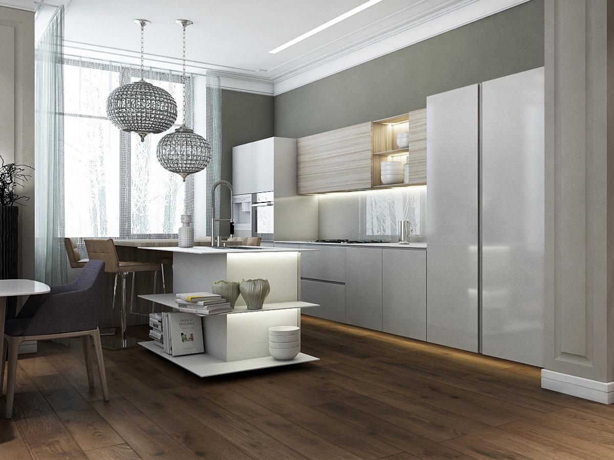 unique contemporary kitchen open shelving ideas | modern island kitchen open shelving | Interior Design Ideas.