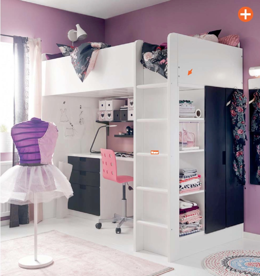 Cool Bedroom Ideas For Teenage Girls Purple Girls Room Ikea Interior Design Ideas