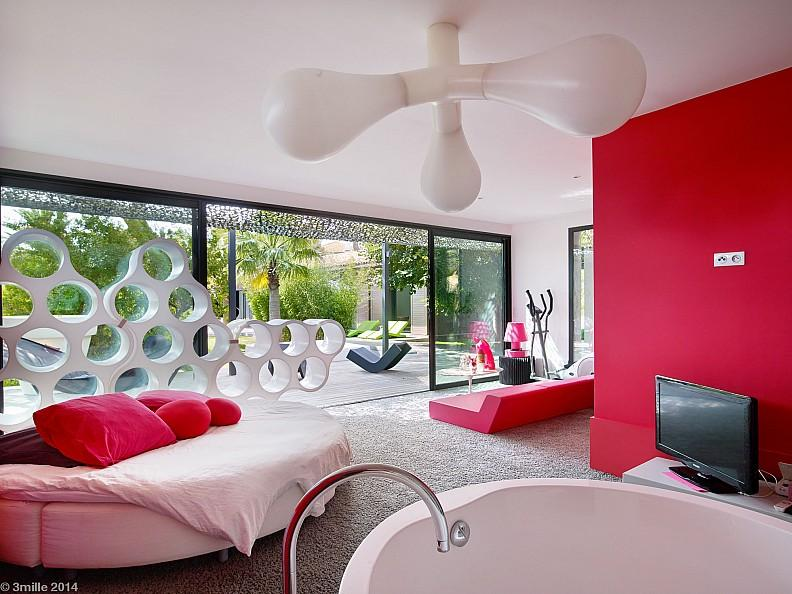 Playfully modern pleasantly colorful beautifully landscaped villa in saint raphael france