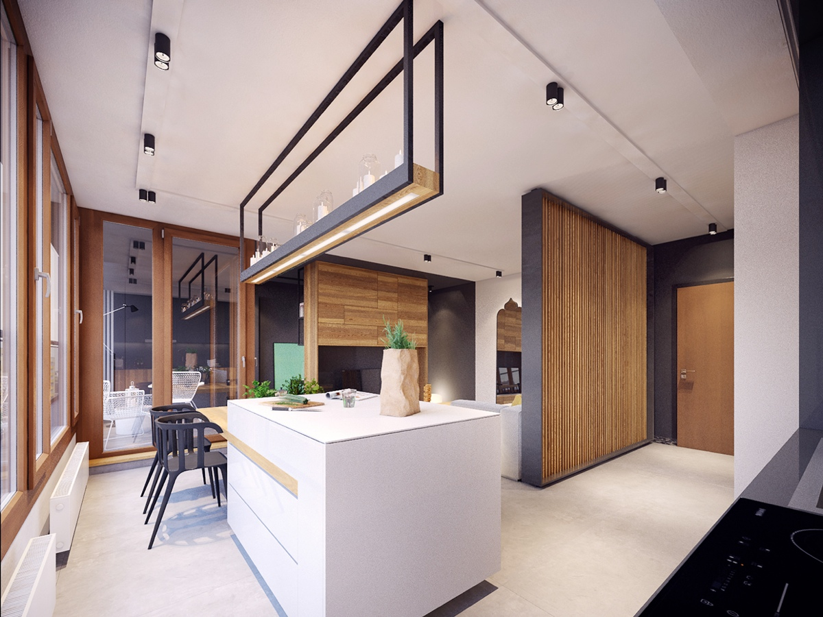 Colorful modern apartment design uses space to beautiful - Modern small apartment design ...