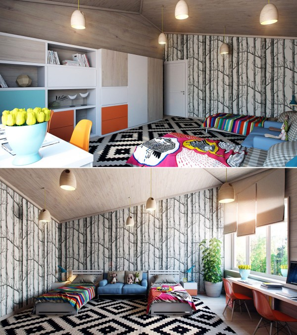 Colorful Kids Room Design: Bright And Colorful Kids Room Designs With Whimsical