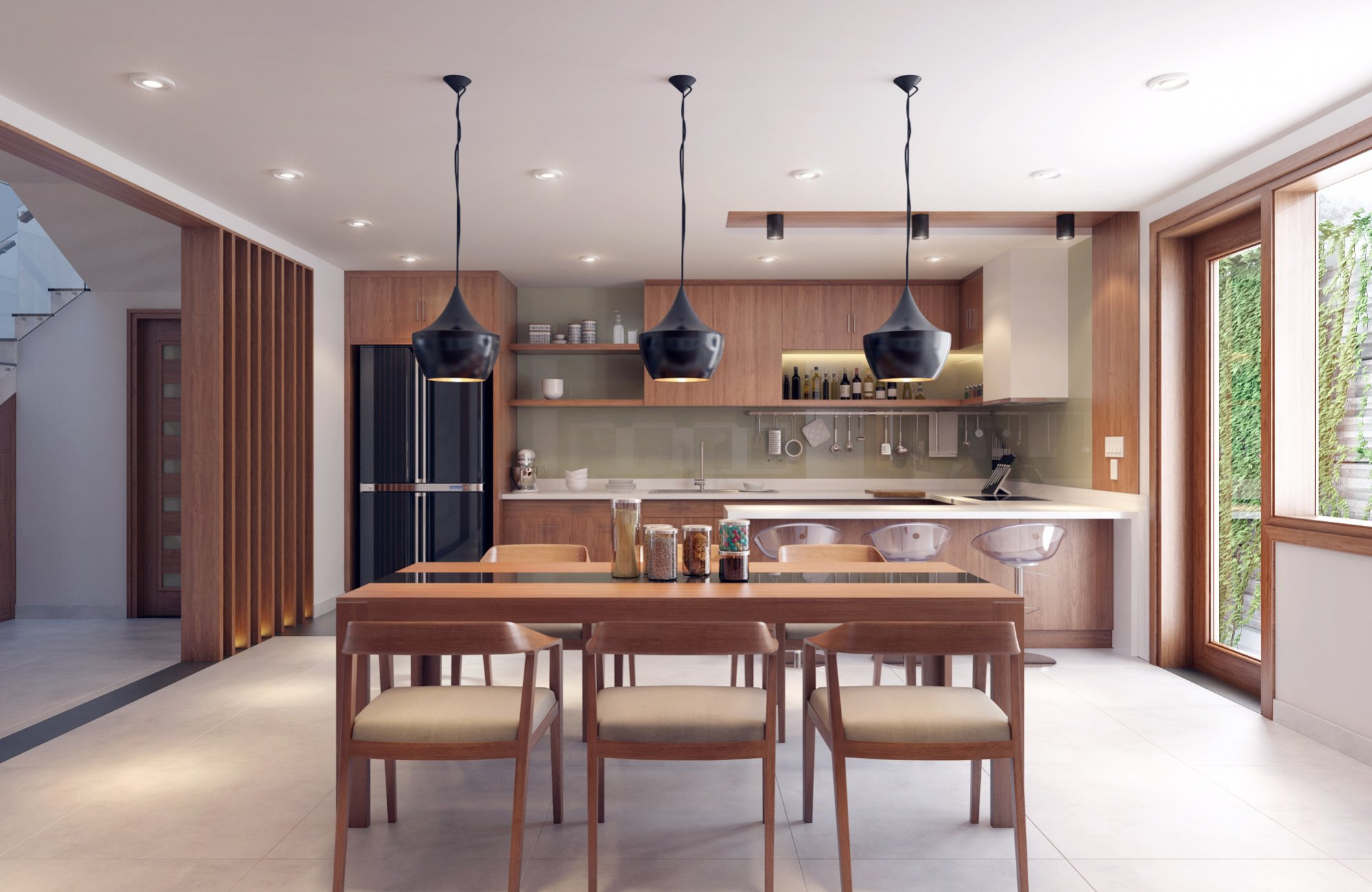 Interior Design Close To Nature: Rich Wood Themes And ... on Comfortable Living  id=47076