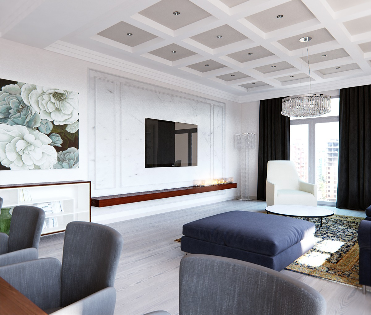 Apartment Blue Book: A Stylish Apartment With Classic Design Features
