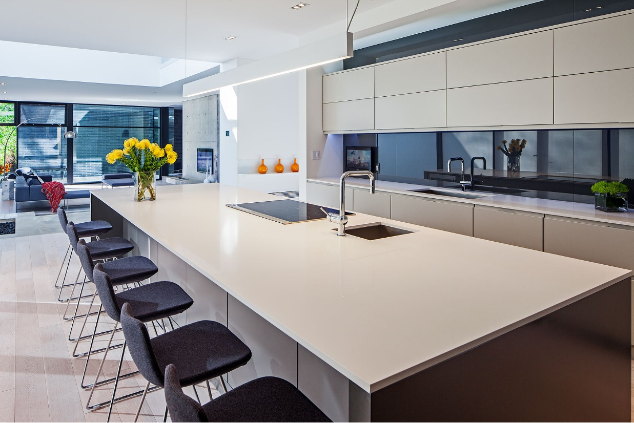 Sleek Ideas For Kitchen Design With Islands: Ultra Sleek Private Home With Incredible Architecture