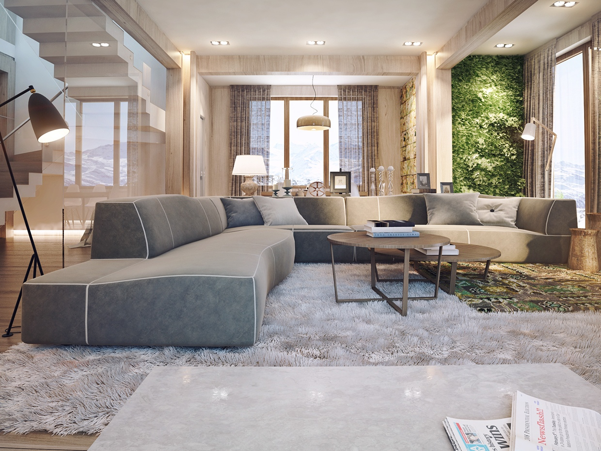 Interior Design Modern: Interior Design Close To Nature: Rich Wood Themes And
