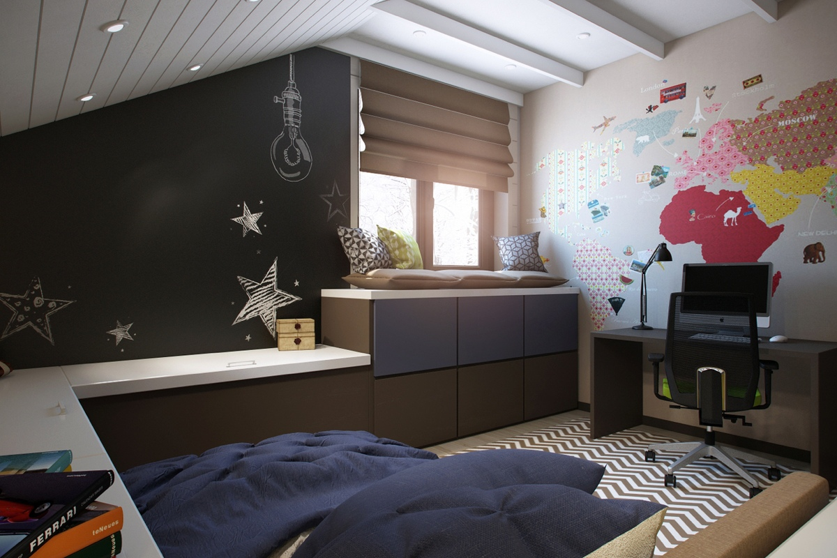 7 Inspiring Kid Room Color Options For Your Little Ones: Bright And Colorful Kids Room Designs With Whimsical