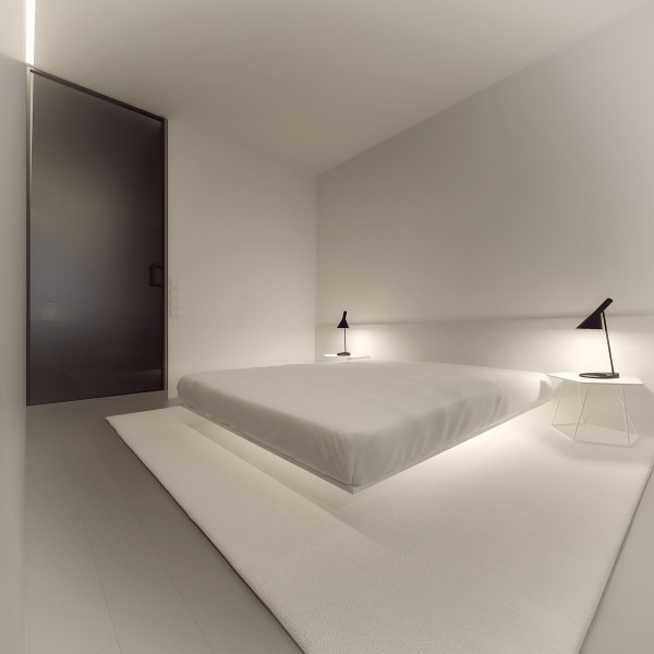 Simple Bedroom Interior Design: Stark, Sharp & Minimalistic Interiors By Oporski Architektura