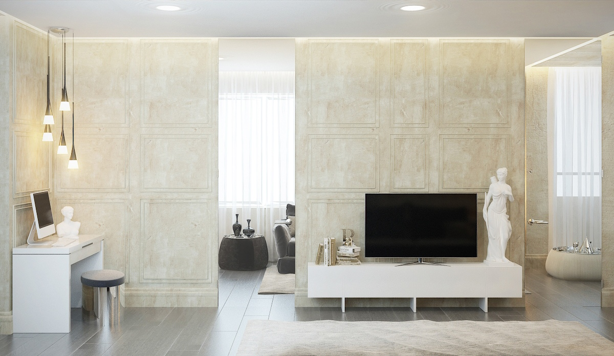 Contemporary Apartment Design with Classical Features ...