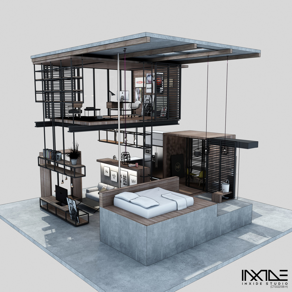 House Inside Design: Compact Modern House Made From Affordable Materials