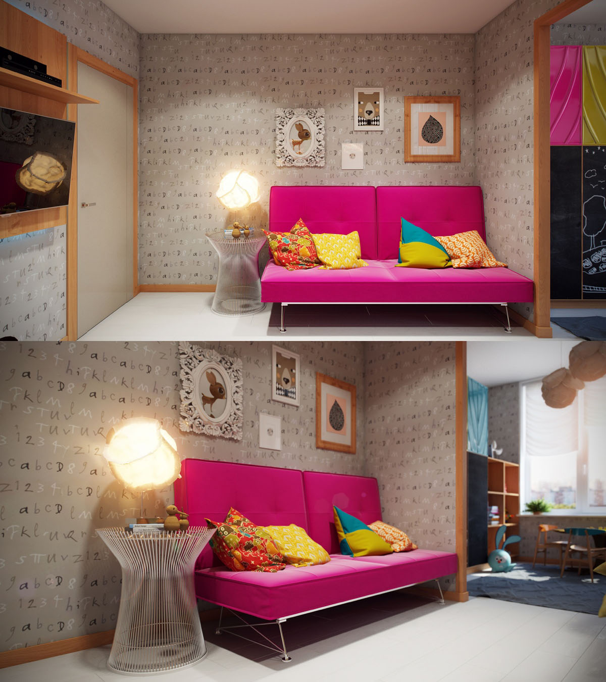 Colorful Kids Rooms: Bright And Colorful Kids Room Designs With Whimsical
