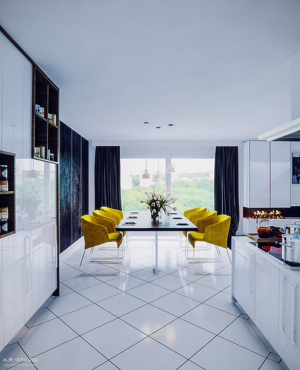 yellow-dining-chairs & yellow-dining-chairs | Interior Design Ideas.