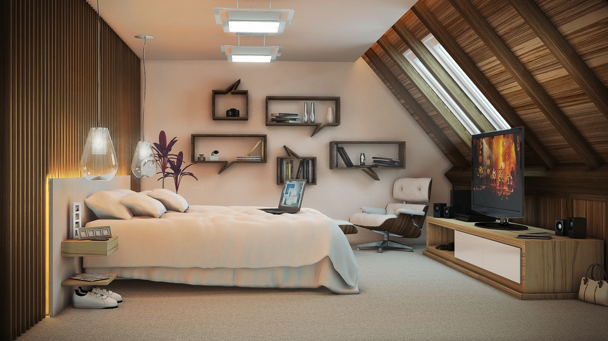 Artist Bedroom Attic Jpeg