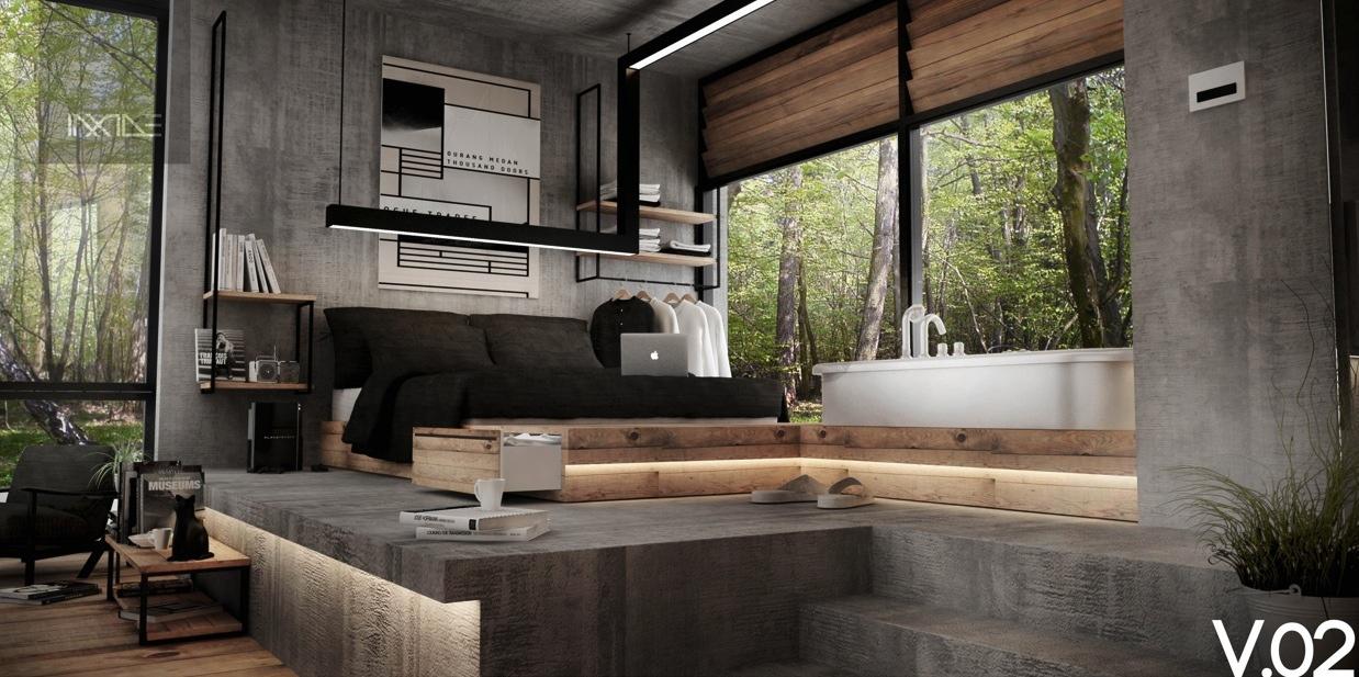 modern style bedroom minecraft interior design style
