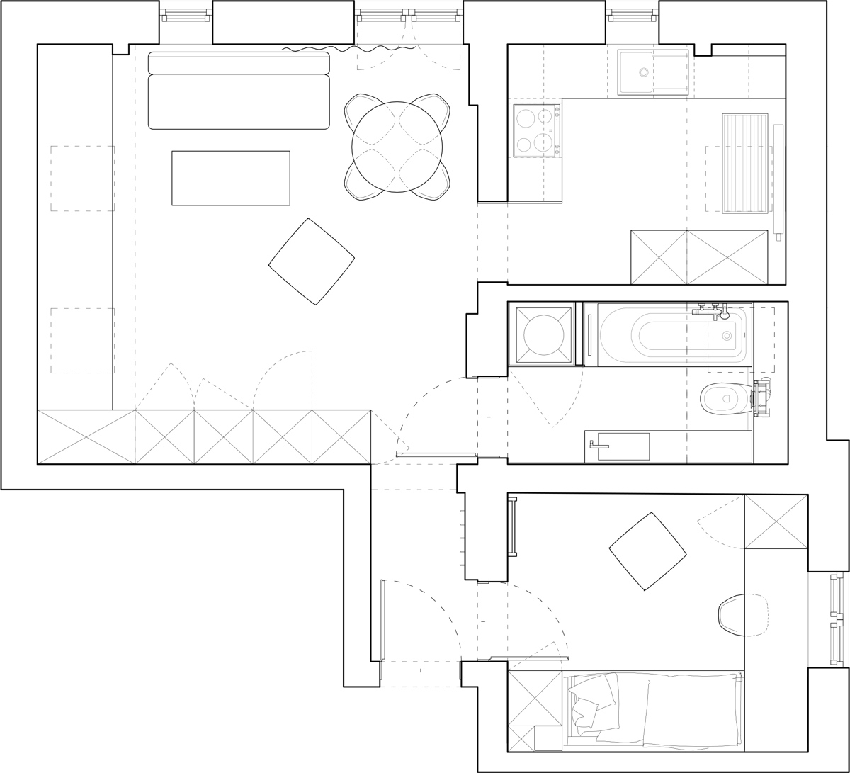 Apartment Floor Plans: Beautiful Attic Apartment With Clever Design Features