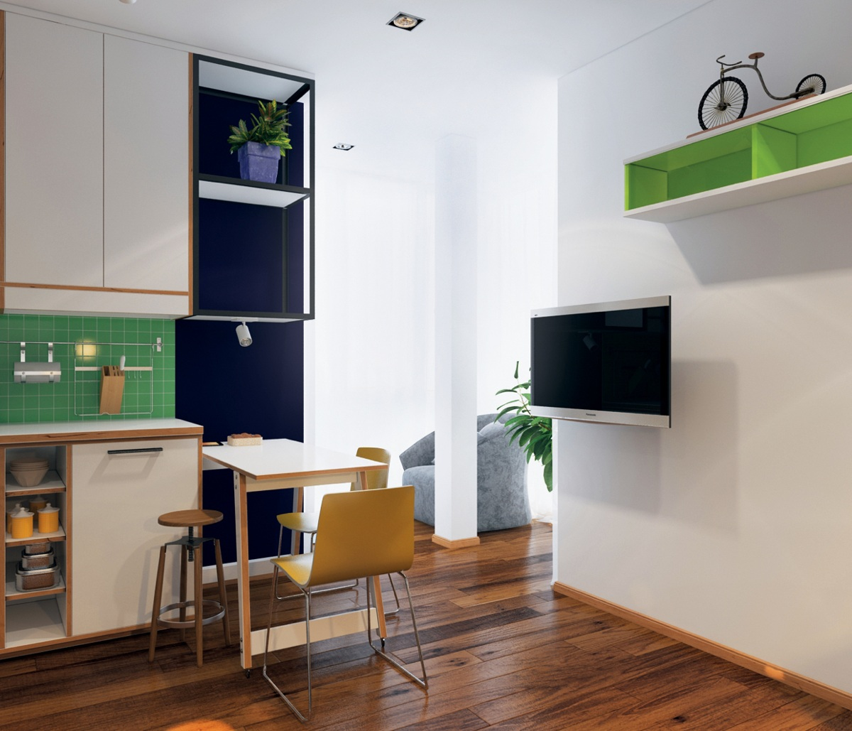 Apartments For: Homes Under 400 Square Feet: 5 Apartments That Squeeze