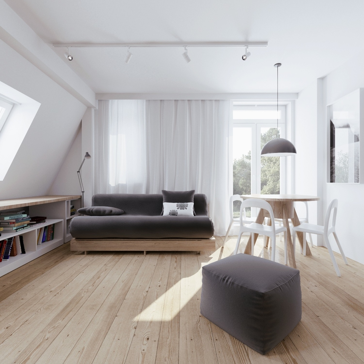 7 Living Room Ideas For People Living In Small Apartments: Beautiful Attic Apartment With Clever Design Features