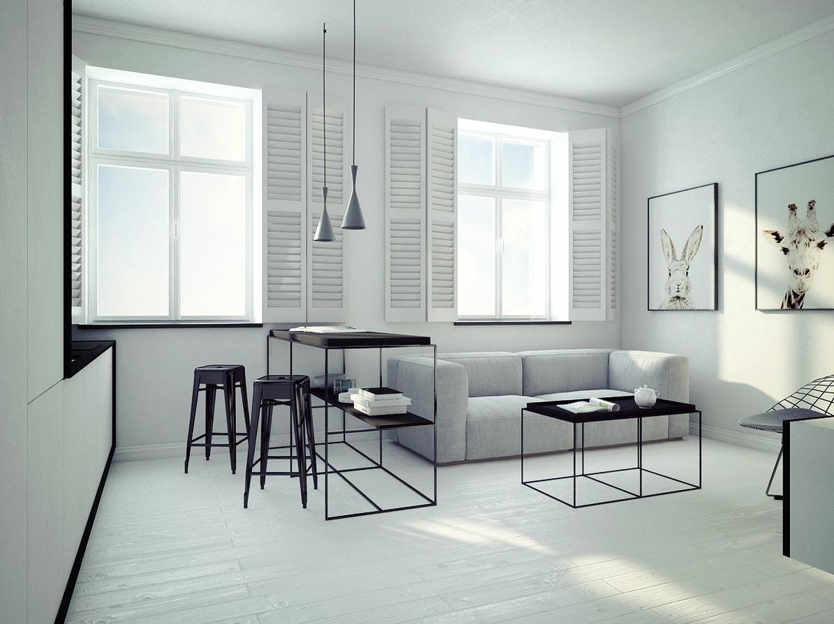 Ultra Minimal Apartment Design