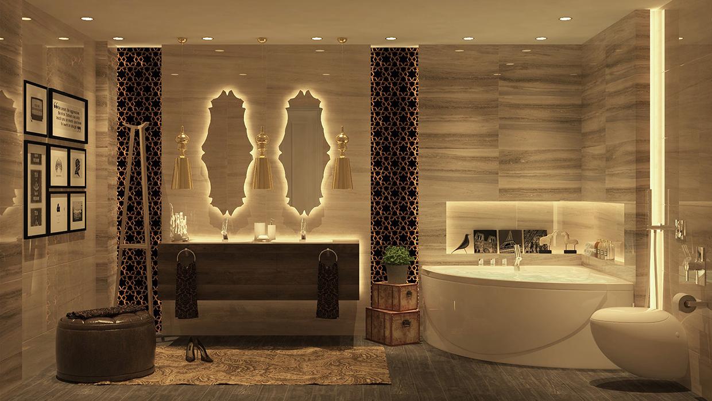 luxurious bathrooms with stunning design details. Black Bedroom Furniture Sets. Home Design Ideas