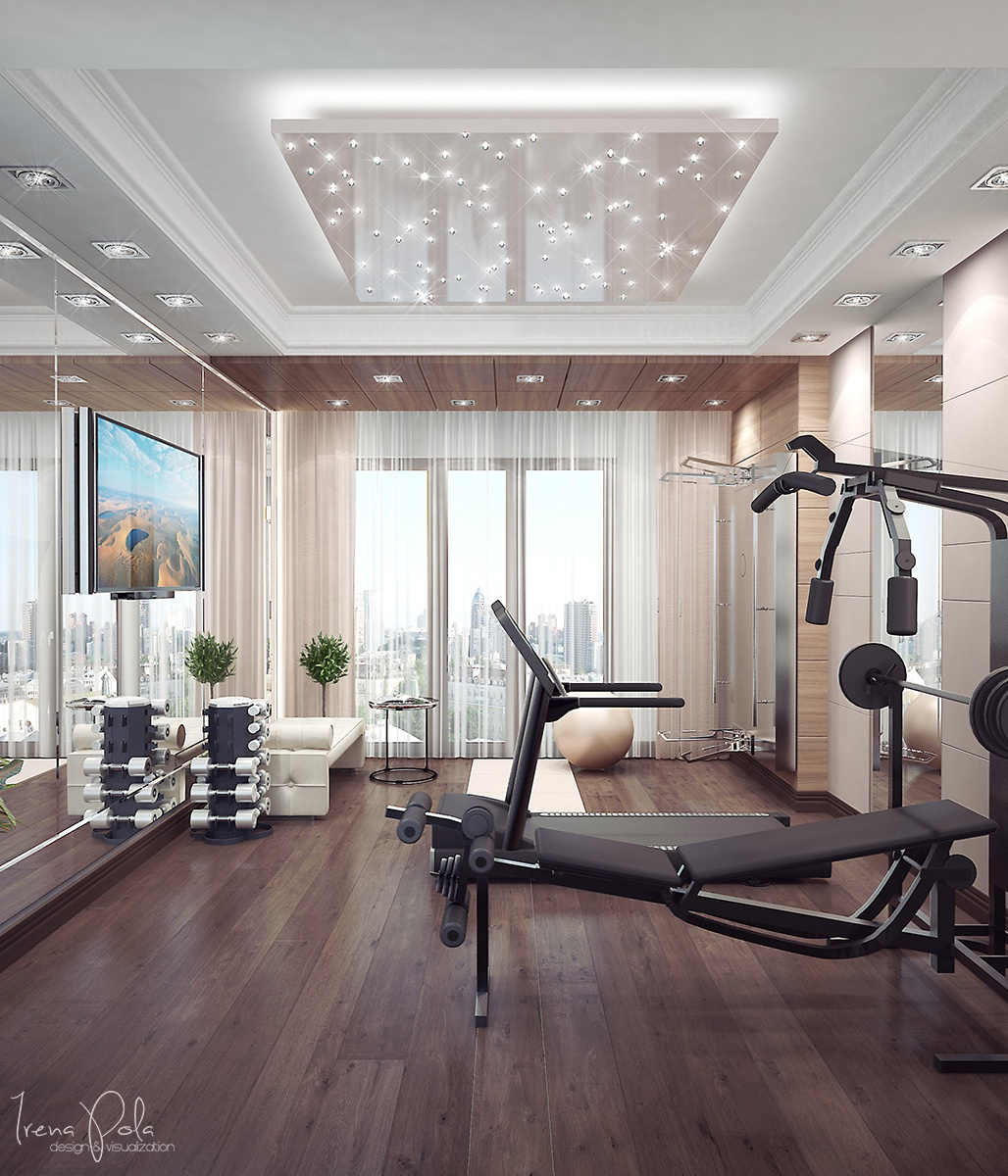 Interior Design Ideas For Home Gym: Super Luxurious Apartment In Kiev, Ukraine