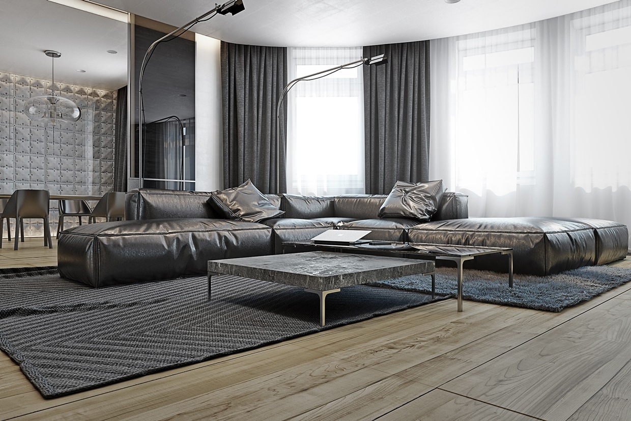 38 Small Yet Super Cozy Living Room Designs: 4 Masculine Apartments With Super Comfy Sofas And Sleek