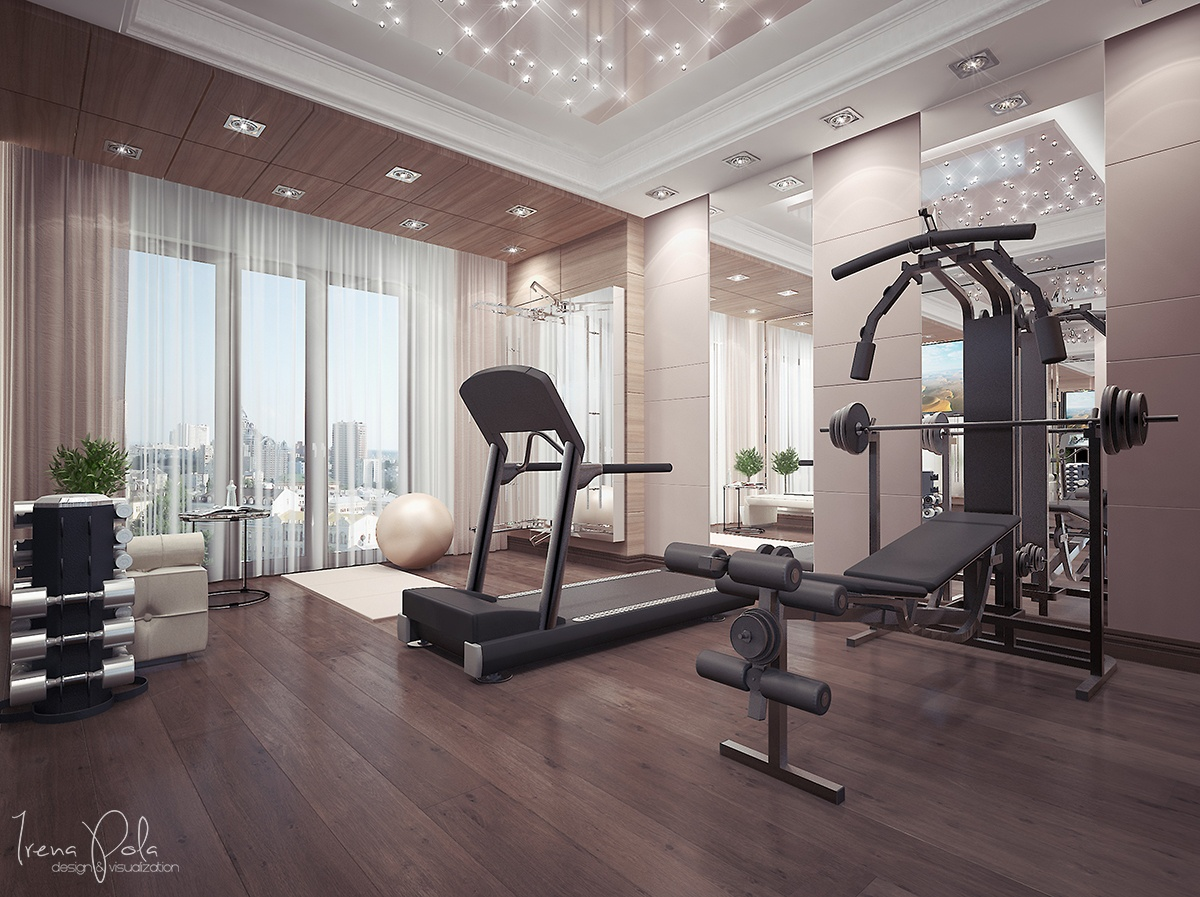Home Gym Design: Super Luxurious Apartment In Kiev, Ukraine