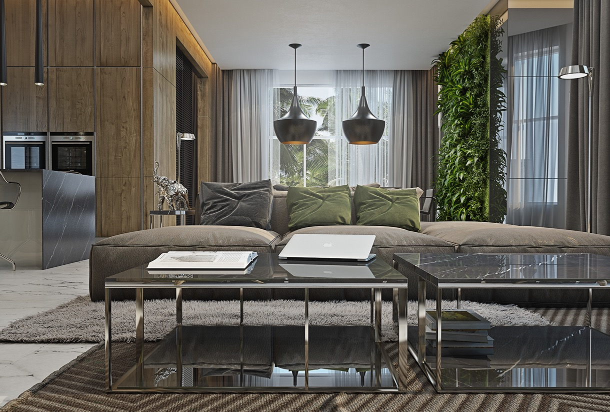 living room garden 4 masculine apartments with comfy sofas and sleek 11252