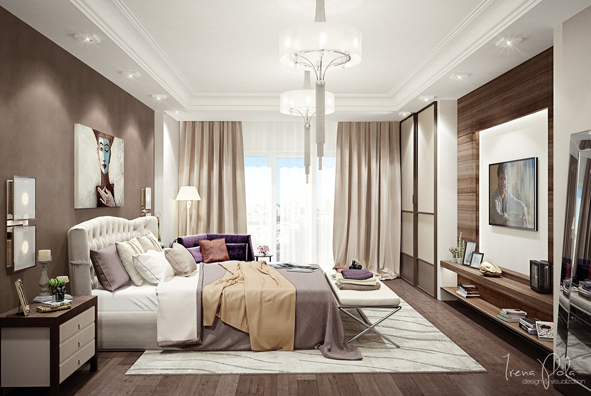 Bedroom Interior : Sophisticated Penthouse Master Bedroom ...  |Apartment Master Bedroom