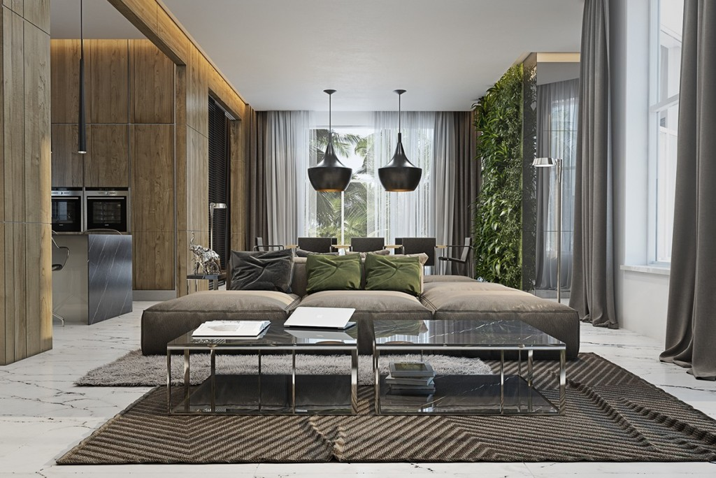 Madrid Taupe Beige Ultra Modern Living Room Furniture 3: 4 Masculine Apartments With Super Comfy Sofas And Sleek
