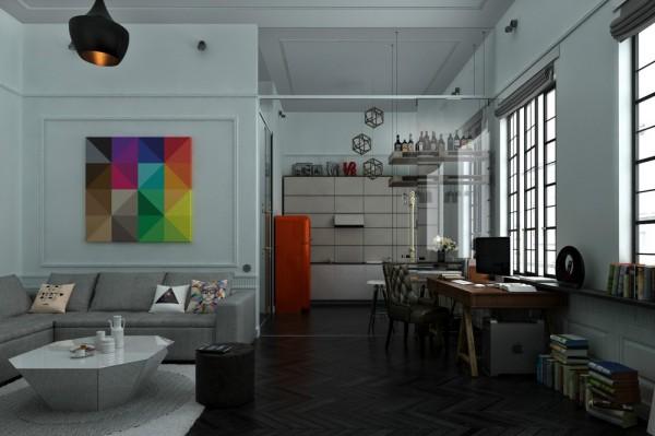 Arcteryx 850 Loft Looks Flat: 3 Distinctly Themed Apartments Under 800 Square Feet With