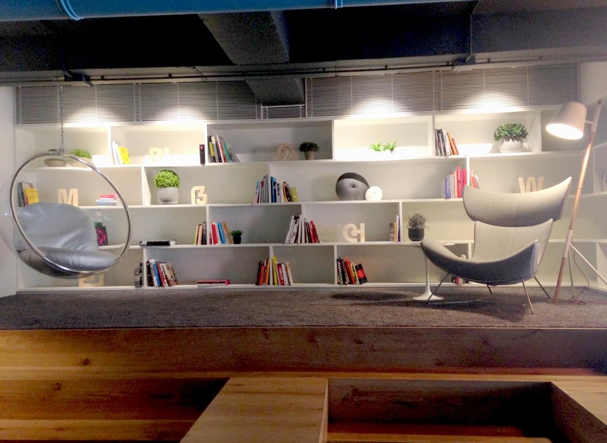 Home Designing Com Modern Office Library Interior Design Ideas