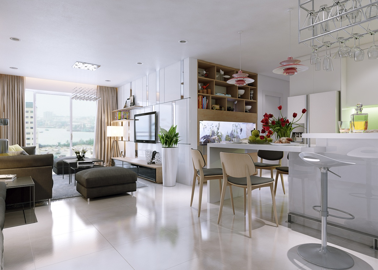 Stunningly beautiful modern apartments by koj design - Modern apartment interior design ...