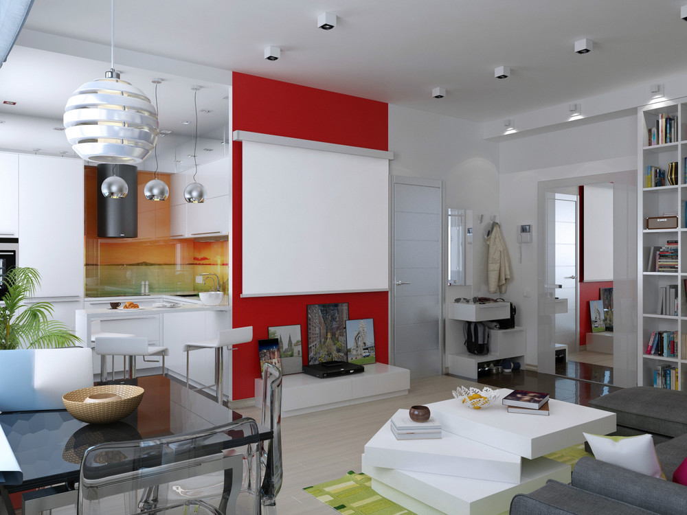Red Accent Wall Interior Design Ideas
