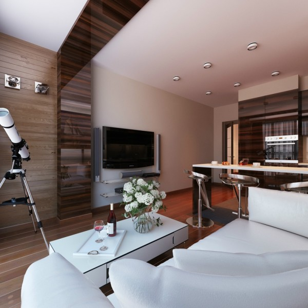 One Bedroom Appartment: 3 Distinctly Themed Apartments Under 800 Square Feet With