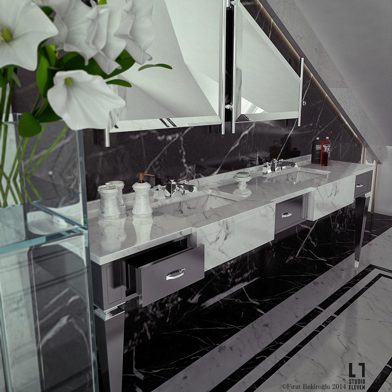 Stylish Bathroom Storage Interior