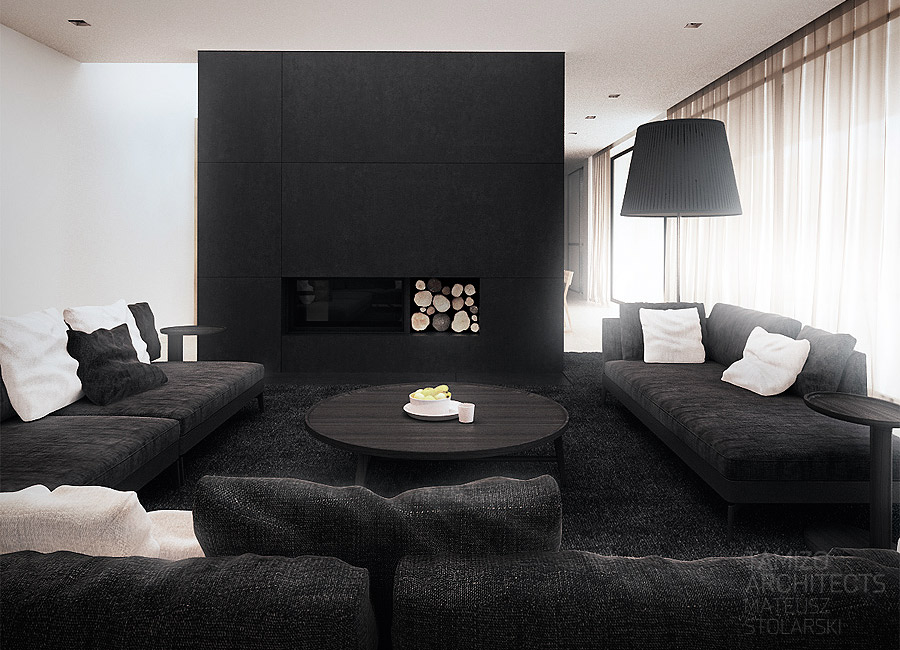 Black Fireplaceinterior Design Ideas